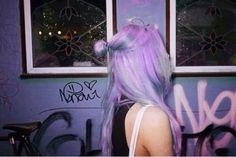 graffiti, hipster girl, pastel grunge, punk rock, style, tumblr girls, violet hair, purple dye