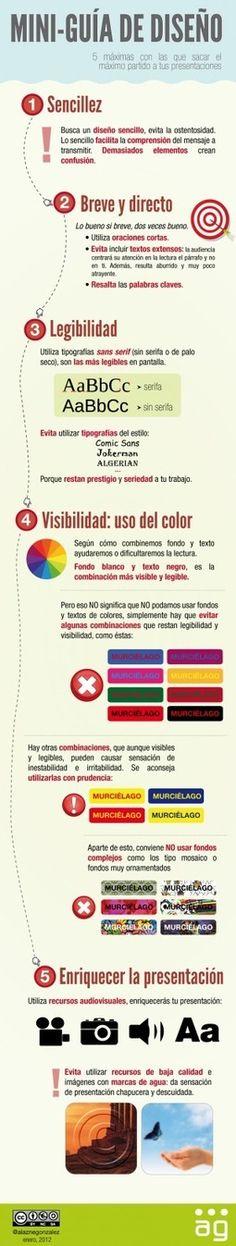 Cómo mejorar el diseño de tus presentaciones #infografía│alaznegonzalez Vía @alfredovela