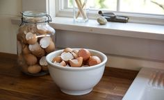 Last fall, I started collecting eggshells after I read an article on Realfarmacy.com that touted their usefulness in the garden, for everything from fertil