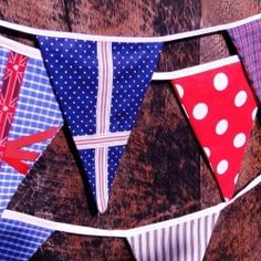 DIY bunting just in time for the Queen's Jubilee party.