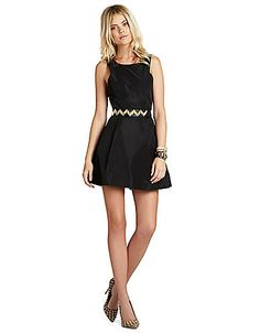 Stud-Neck Dress | Lord and Taylor