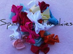 Buy 3 Get One FREE  Piggy Tail Bows by SparklingTwinkies on Etsy, $10.95