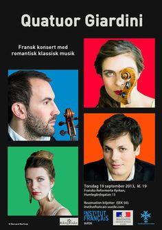 Concert with Quatuor Giardini  #piano #design #stockholm #sthlm #frenchartist #ifsuede #frenchinstitute #francais #institutfrancais #franskainstitutet #poster #affiche #retro