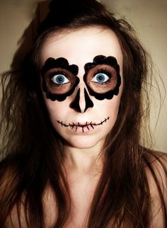 @Lydia Joy lets add this as one of our face painting options!! VERY halloween-y.