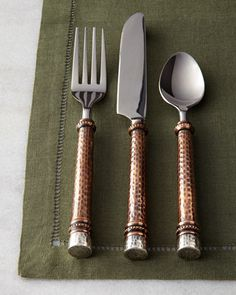 20-Piece+Hammered+Flatware+Service+by+GG+Collection+at+Horchow.