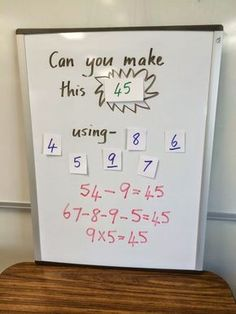 Can you make This? A simple math activity to challenge students and make them think! The kids love it and so will the teacher!