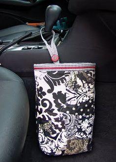 Designer Car Trash Bag  Custom Made by GreenGoose on Etsy, $29.00