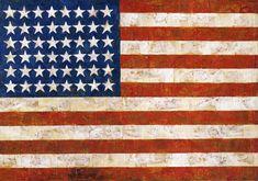 Jasper Johns Flag. 1954-55.