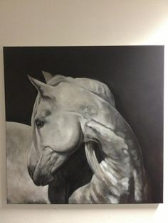 Pop-Up Equine Art Lesson with Tony O'Connor 'Hindsight' Part 5/9 whitetreestudio.ie After a weekend of doing nothing to it, have a cuppa. Look at it. Mix various shades of grey around and approx 45 mins later decide that enough is enough. Hey Presto! You can now paint like me! Eh ... did I mention... I want 10% of all sales! lol