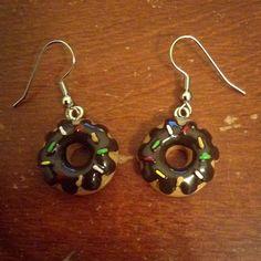 HANDMADE Sprinkled Donut Earrings ($12)