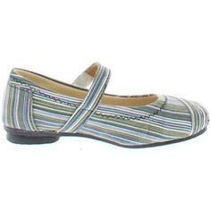 Shoes of Soul Girls' Stripe Flat Shoe, Size: 11, Black