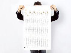 Wandkalender 2014 von tyyp - Büro für Design auf DaWanda.com