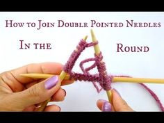 How to Join Double Pointed Needles in the round - Beginner Knitting Tuto...
