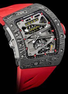 Die RM70-01 #tourbillon Alain Prost ist jedoch keine Uhr fürs Renncockpit, sondern fürs Radfahren, der zweiten großen Leidenschaft von Alain Prost und #richardmille. Mit Hilfe eines schrittweisen Zählers kann beispielsweise die gefahrene Gesamtdistanz abgelesen werden. Der Zähler befindet sich im oberen Bereich des Zifferblatts. Die #luxusuhr kostet 884.500 Euro. [2655] Watches For Men Unique, Unusual Watches, Amazing Watches, Luxury Watches For Men, Cool Watches, Richard Mille, Breitling, Rolex Submariner, Hublot Watches