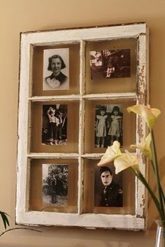 Sepia toned pics look sooo good in an old chippy white window!!