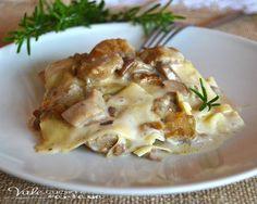 Lasagne ai funghi porcini ricetta primo piatto buonissime e golose, un ricco primo piatto, profumato che si scioglie in bocca