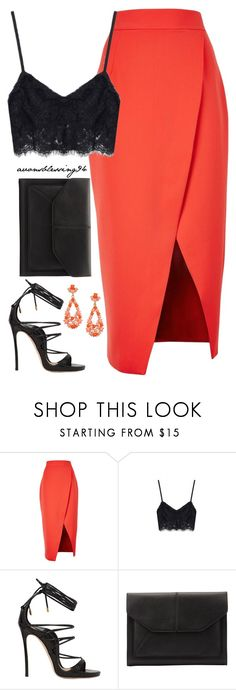 """Feeling Lovely"" by avonsblessing94 ❤ liked on Polyvore featuring C/MEO COLLECTIVE, Dsquared2, John Lewis and Kenneth Jay Lane"