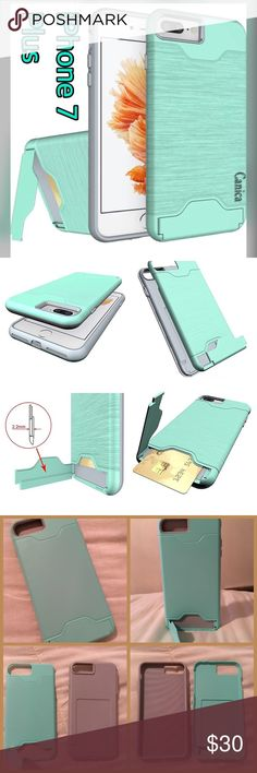 NEW Tiffany Turquoise iPhone 7 Plus Soft TPU Case iPhone 7 Plus [2016]  Tiffany Blue Wallet Case. Simple, elegant, functional and lovely. The iPhone 7 Plus case features a refined design, vibrant colors and lasting protection. Protect your phone and hide your credit or debit card.   Precise cutouts for speakers, charging ports, audio ports and buttons. Textured grip - case showcases phone Shock Absorption TPU Bumper, Polished TPU edge for smooth and secure gripping. Super durable. Apple…