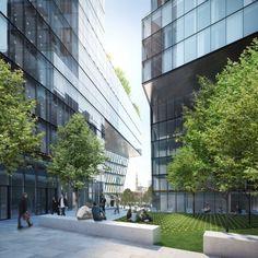 Render y Arquitectura 3D | Render 3D exterior de edificio de uso mixto en Beirut