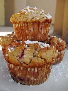 Gluten Free Strawberry Coconut Muffins