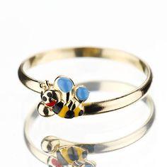 Inel din aur cu albinuta, pentru copii BC335
