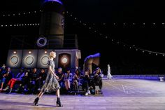 Our favourite sets from New York Fashion Week: An enormous ship at Tommy Hilfiger.