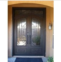 Wrought iron entry double entry door - www. Double Entry Doors, Wrought Iron Doors, Furniture, Home Decor, Modern Gates, Decoration Home, Wrought Iron Gates, Room Decor, Home Furnishings