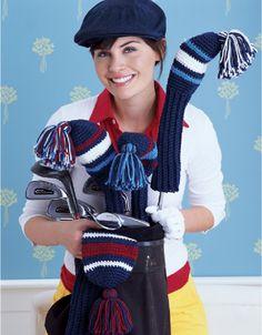Free crochet golf club cover pattern