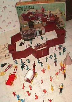 Fort Apache Play Set  I had this! My dad and I would play!!!! Then we would watch the girls roller derby!