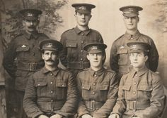 WW1 Soldiers of the Leicestershire Regiment.