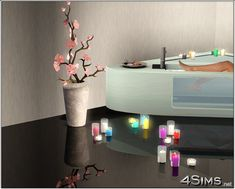 Romantic candles group - 4Sims