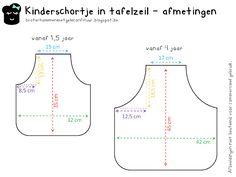 Patroon peuter - en kinderschort - Pattern apron for toddlers / kids Sewing Patterns For Kids, Sewing For Kids, Baby Sewing, Diy For Kids, Toddler Apron, Kids Apron, Sewing Hacks, Sewing Crafts, Sewing Projects