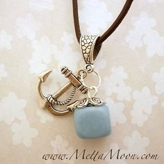 MettaMoon Blue Jade Sailor Charm Necklace