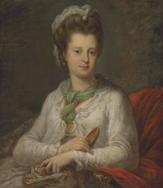 ca 1770 - Elizabeth Kerr (1745-1780), née Fortescue, Marchioness of Lothian, by Angelica Kauffman