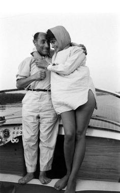 "federer7:  ""Sophia Loren and Alfred Eisenstaedt  © Alfred Eisenstaed/Pleasurephoto Room  """