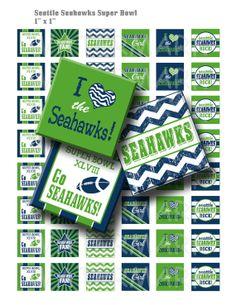 Seattle Seahawks Super Bowl  Digital Collage Sheet   by OldMarket, $3.00