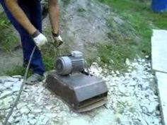 Vibration plate,Home made Outdoor Power Equipment, Concrete, Plates, Homemade, Cool Stuff, Youtube, Ideas, Ad Home, Licence Plates