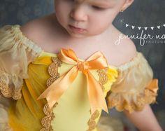 Belle inspirado Vestido de 12 meses