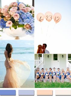 periwinkle inspired blue and peach wedding color ideas for 2015 trends cvb