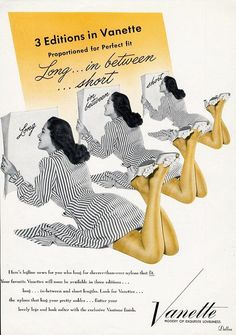 https://www.ebay.com/itm/VANETTE-Hosiery-Stockings-Ad-1947-Lady-Times-Three-Legs-in-Nylons-/361906447911?hash=item54434e2627