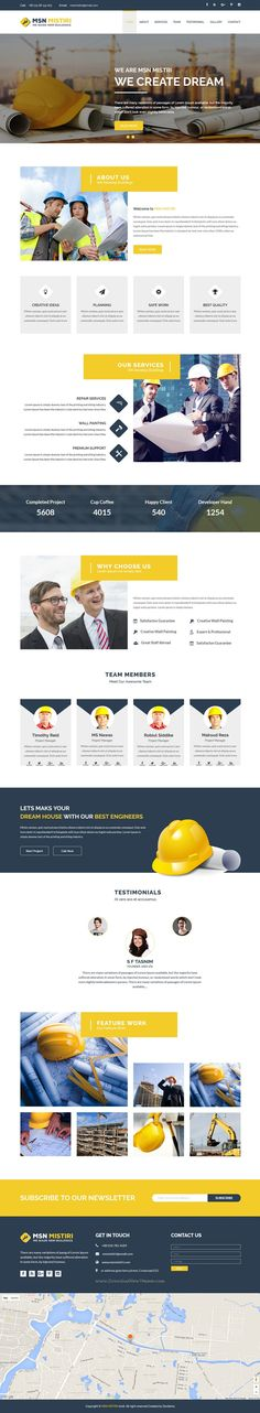 Msn Mistiri is finest Bootstrap #Template for #construction company #website. Download Now