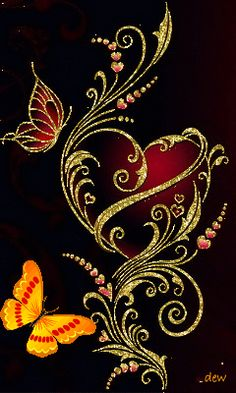 Discover thousands of images about heart gif Flower Phone Wallpaper, Heart Wallpaper, Butterfly Wallpaper, Butterfly Art, Love Wallpaper, Cellphone Wallpaper, Wallpaper Backgrounds, Flower Art, Beautiful Flowers Wallpapers
