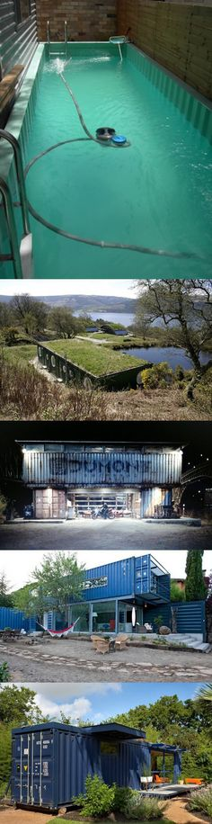 Funny pictures about Homes Made From Shipping Containers. Oh, and cool pics about Homes Made From Shipping Containers. Also, Homes Made From Shipping Containers photos. Shipping Container Pool, Cargo Container Homes, Building A Container Home, Container House Plans, Container House Design, Shipping Containers, Container Architecture, Container Buildings, Container Restaurant