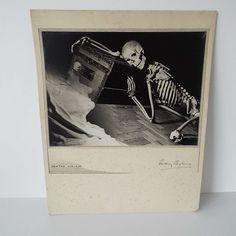 Original Vintage 1930's Death's Vision Photograph Rodney Shepheard Skeleton Death Morbid Coffin Halloween by VintageBlackCatz on Etsy
