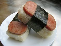 Spam musubi is often associated with sushi as it uses sushi rice and nori. Nevertheless, it claims its own name and well… it is spam musubi. Bento, Sushi, Spam Musubi, Canned Meat, Rednecks, Back Home, Food Network Recipes, Love Food, Gourmet