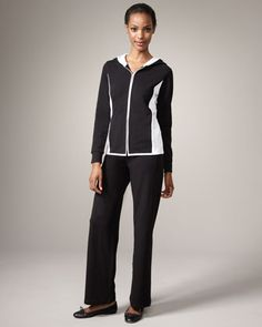 Magaschoni French Terry Pants (for Pilates/lounging) — Neiman Marcus.