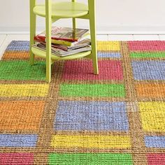 This would be fun to do on a sisel rug