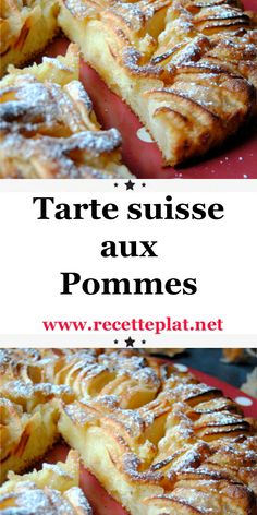 Tarte suisse aux pommes - New ideas Quick Dessert Recipes, Quick Easy Desserts, Easy Cake Recipes, Best Rhubarb Recipes, Apple Crisp Recipes, Fast Healthy Meals, Good Healthy Recipes, Make French Toast, Quelque Chose