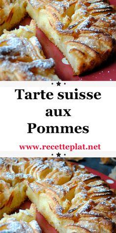 Tarte suisse aux pommes - New ideas Best Rhubarb Recipes, Apple Crisp Recipes, Best Cake Recipes, Quick Dessert Recipes, Quick Easy Desserts, Fast Healthy Meals, Good Healthy Recipes, Healthy Food, Make French Toast