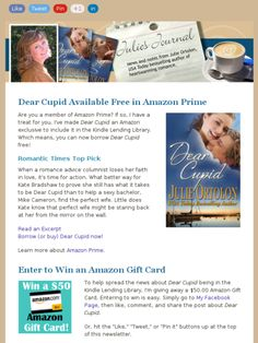 Check out this Mad Mimi newsletter- free book and win an Amazin gift card